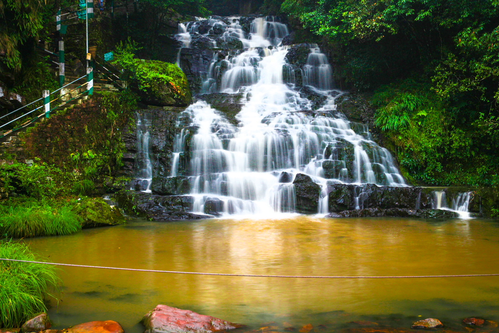 Elephant Falls is one of the popular tourist destinations near Shillong