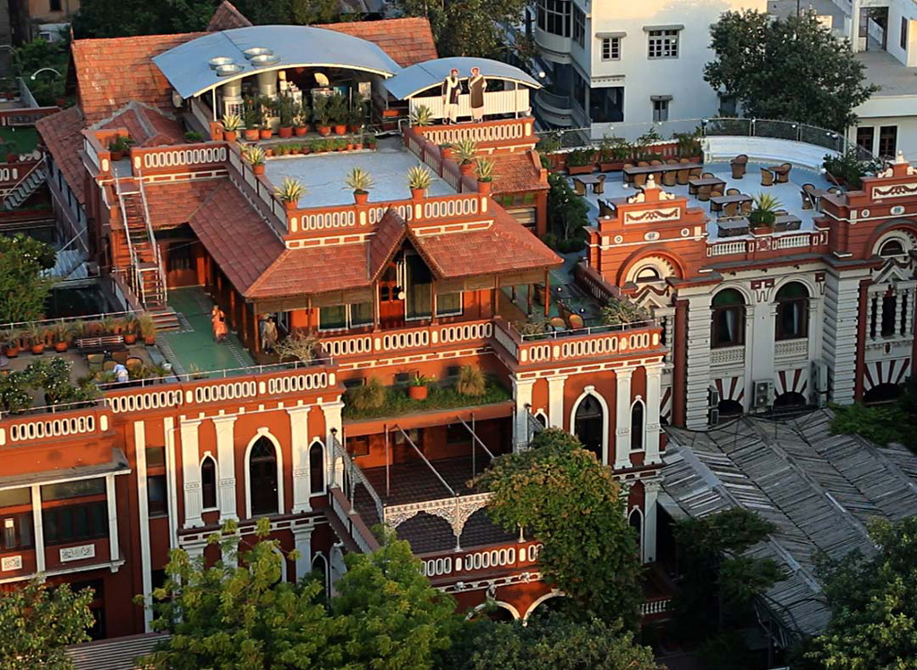 House of Mangaldas Girdhardas, a 1924 home of a wealthy textile magnate. Now a popular tourist attraction and a boutique heritage hotel