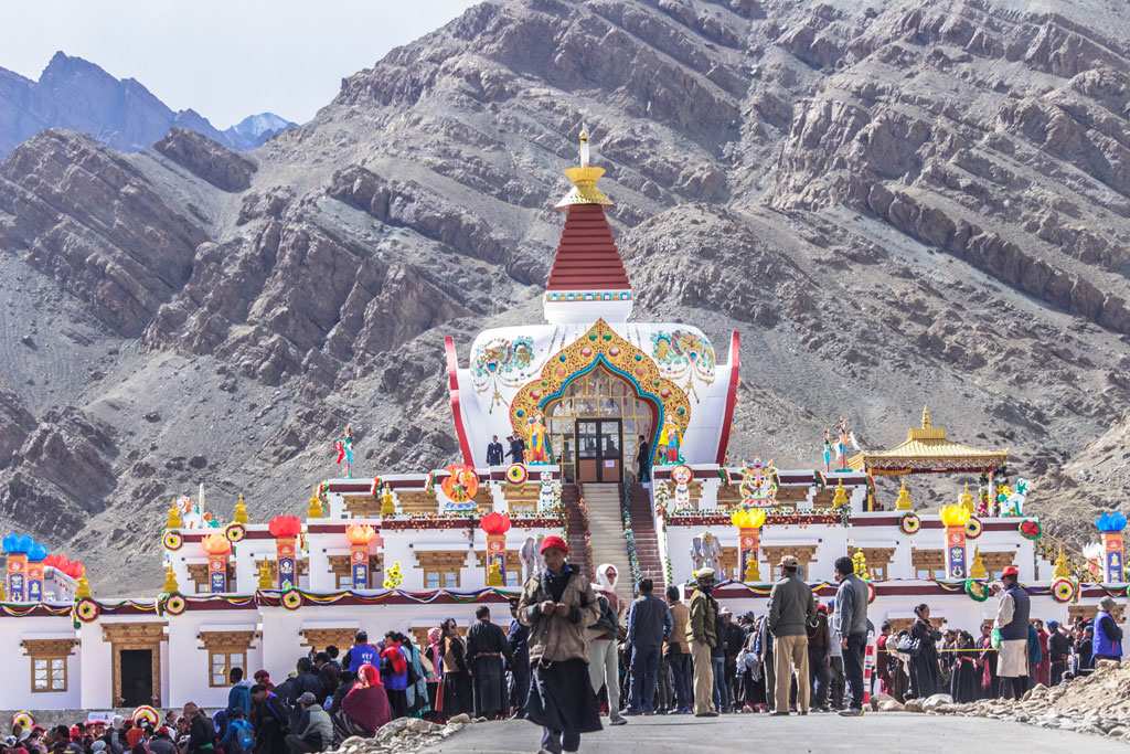 The Hemis temple is a short drive from the Hemis Monastery and is where ancient relics are kept