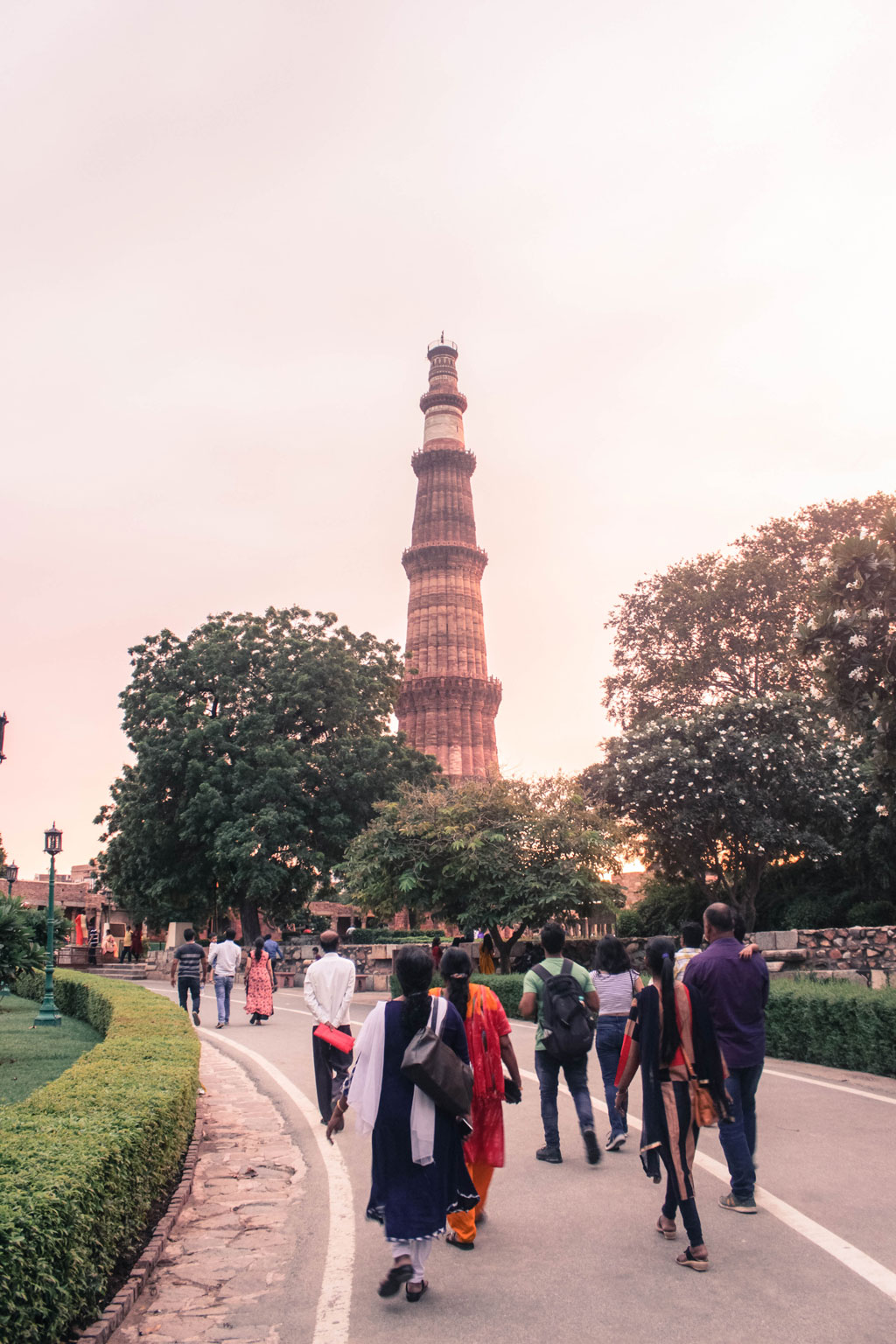 The Qutub Minar is the world's tallest minaret at 73 meters tall