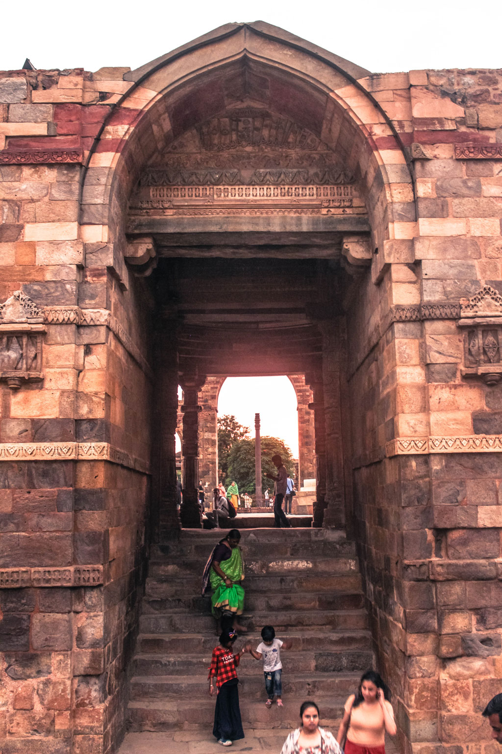 A gateway at the Qutub complex which leads you to the Quwwat-ul-Islam Mosque