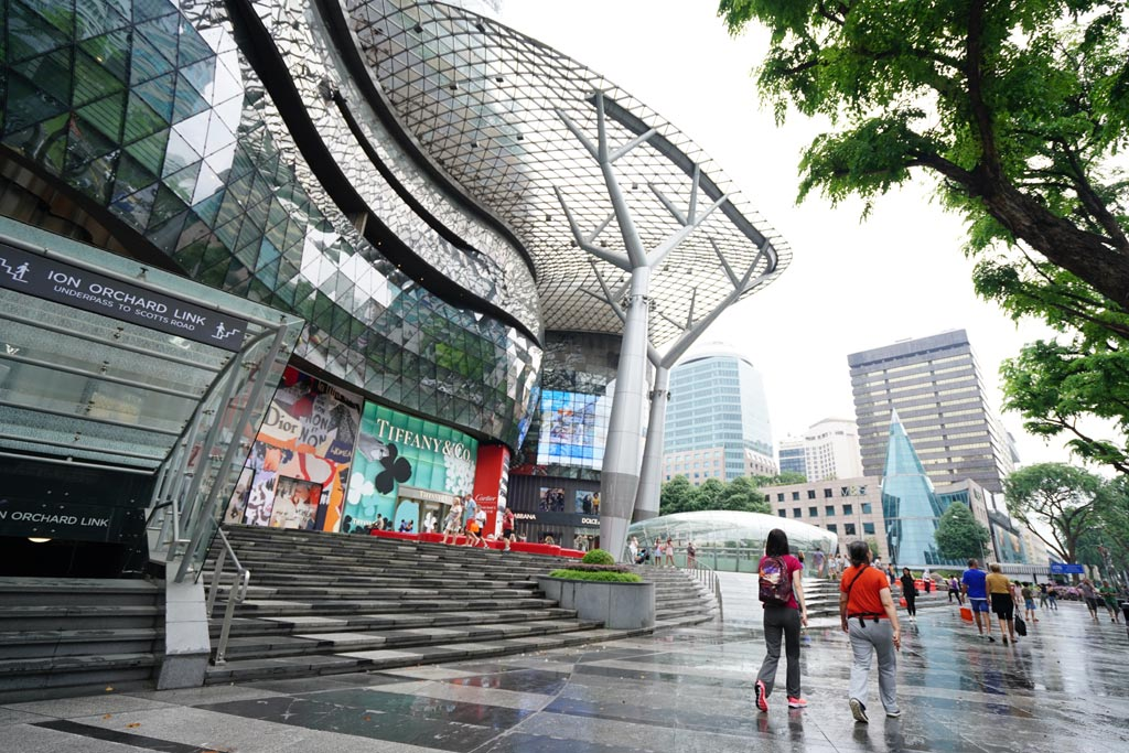 The ION Orchard mall on Orchard Road